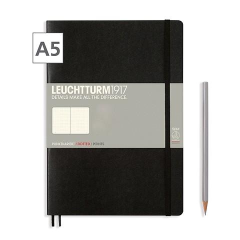 Notizbuch A5 Dotted Schwarz