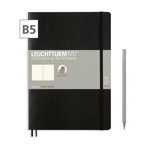 Notizbuch B5 Composition Blanko Schwarz