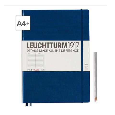 Leuchtturm1917 Notizbuch A4+ Master Slim Liniert Marine