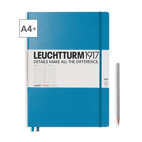 Leuchtturm1917 Notizbuch A4+ Master Slim Liniert Azur