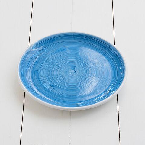 Ruggeri Brushed Azzurro Mittlerer Teller 26 cm