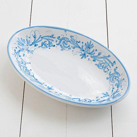 Ruggeri Adelasia Azzurro Ovale Platte 36 cm
