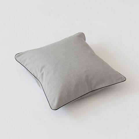 Torquato Kissenbezug Herringbone 40 x 40 cm Grau mit Paspel