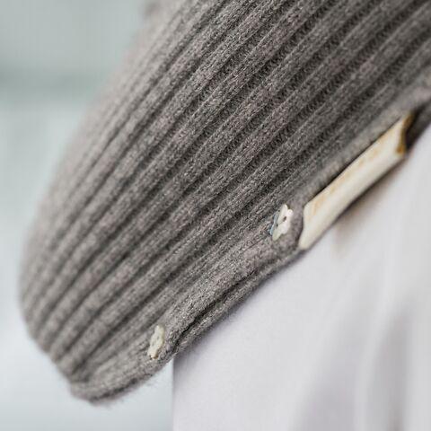 YUYU Wärmflasche Rib Knit Grau