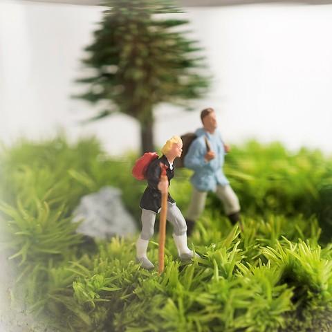 Mini-Dioramen: Wanderer