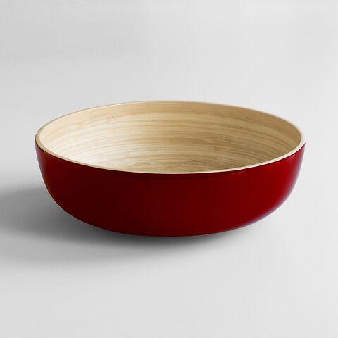 Salatschüssel Bambus XL Rot