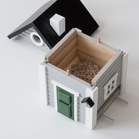 Vogelhäuschen Graues Haus