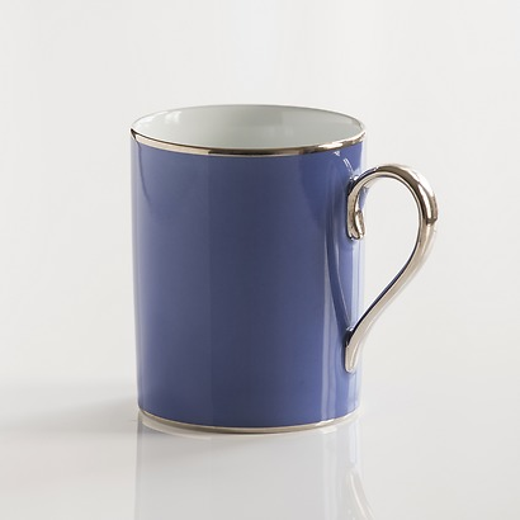 Porcelaine de Limoges Frühstücksbecher Französisch Blau