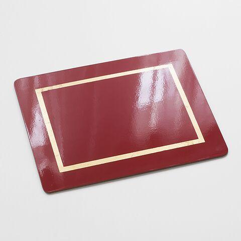 4 Tischsets 45 x 35 cm Red/Gold