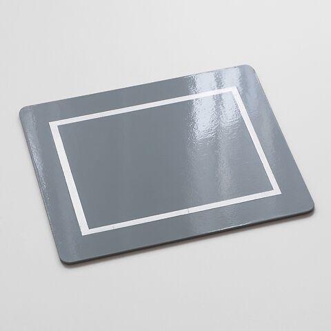 4 Tischsets 45 x 35 cm Grey/Silver