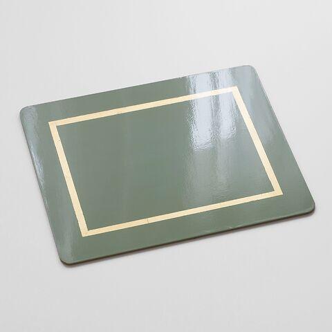 4 Tischsets 45 x 35 cm Greenstone/Gold