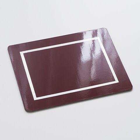 4 Tischsets 45 x 35 cm Burgund/Silver