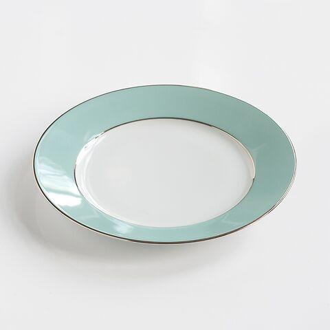 Porcelaine de Limoges Mittlerer Teller Mintgrün