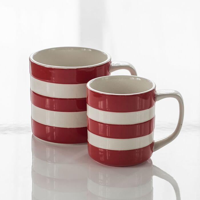 4 Becher Cornishware Rot
