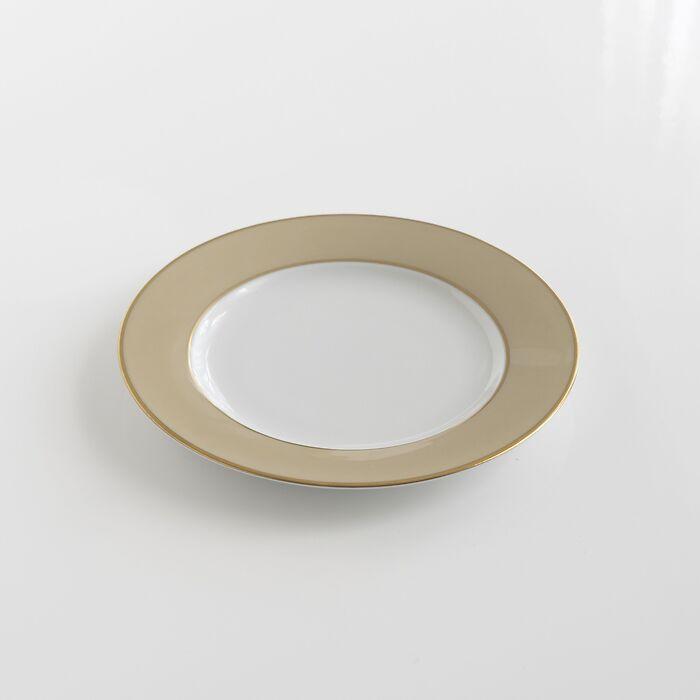 Porcelaine de Limoges Kuchenteller mit Golddekor Beige