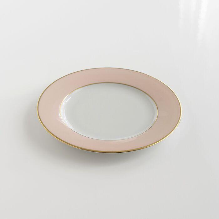 Porcelaine de Limoges Kuchenteller mit Golddekor Rosa