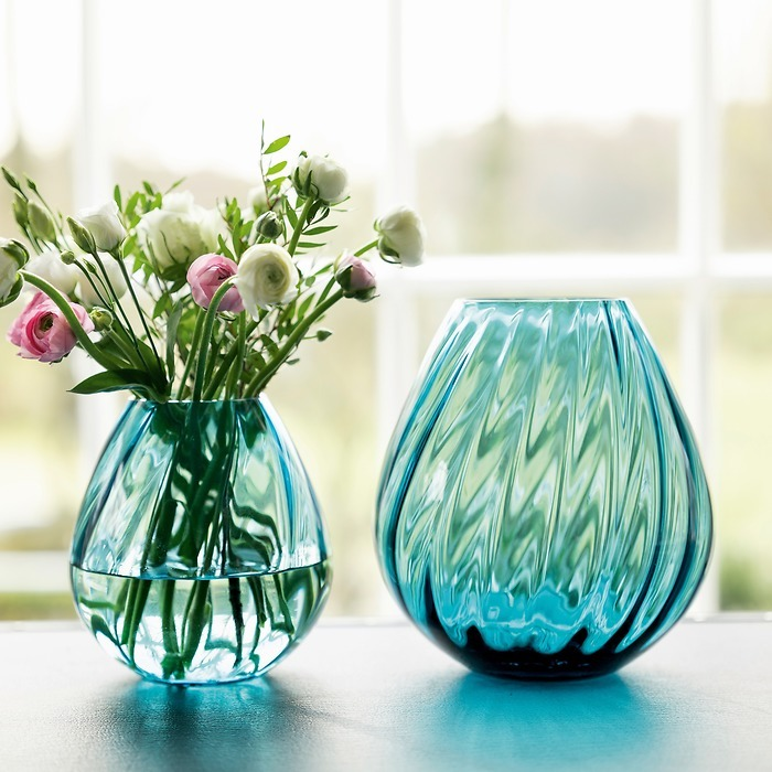 Kleine Vase Aqua light