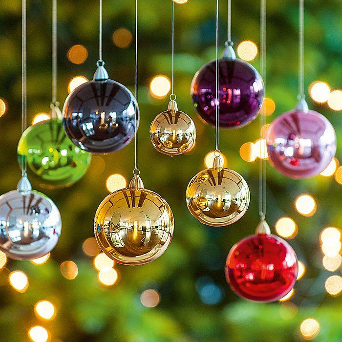 6 Lauschaer Weihnachtskugeln 8 cm