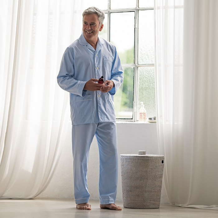 Schlafanzug Emanuel Berg Royal Twill hellblau