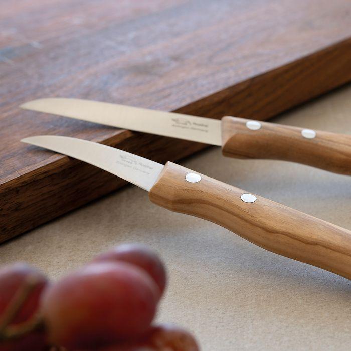 Omas Küchenmesser von Otter mit Olivenholzgriffen