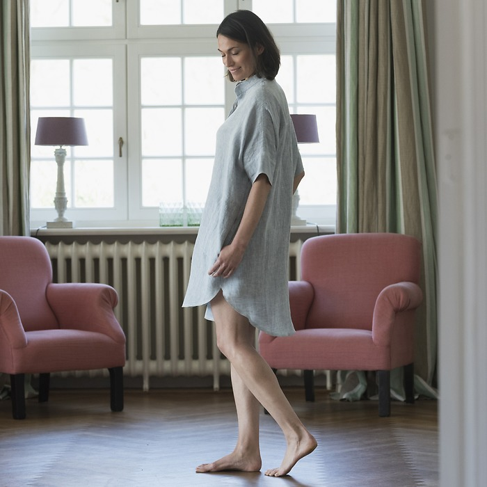 Sunday in Bed Pyjamashirt Rania Waschleinen