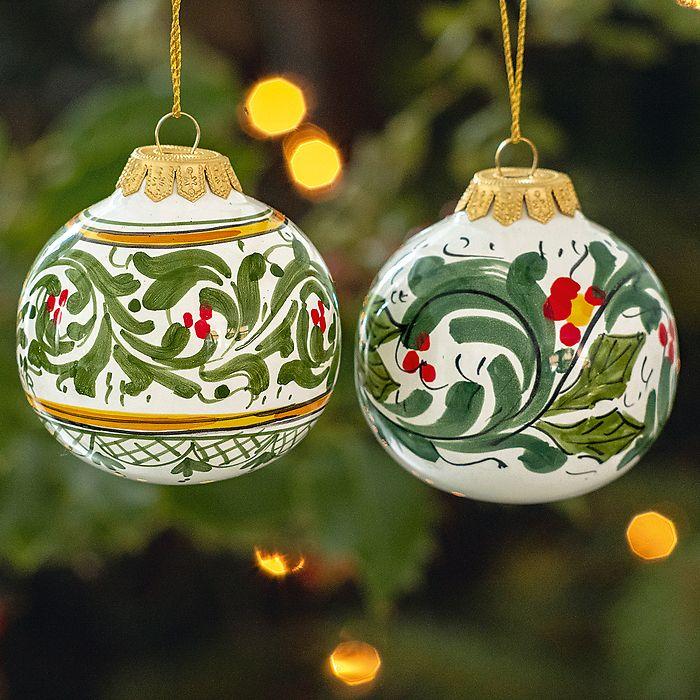 Christbaumkugeln aus Keramik