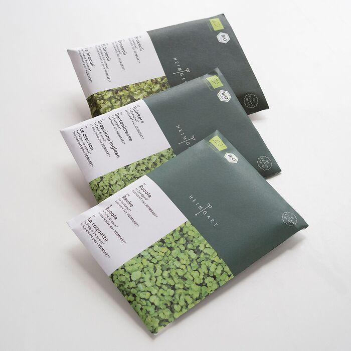 Bio Saatpads für Starter-Kit Heimgart Microgreens
