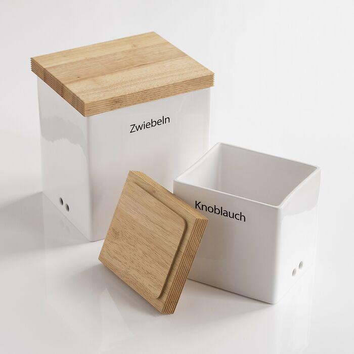Vorratsdosen mit Holzdeckel
