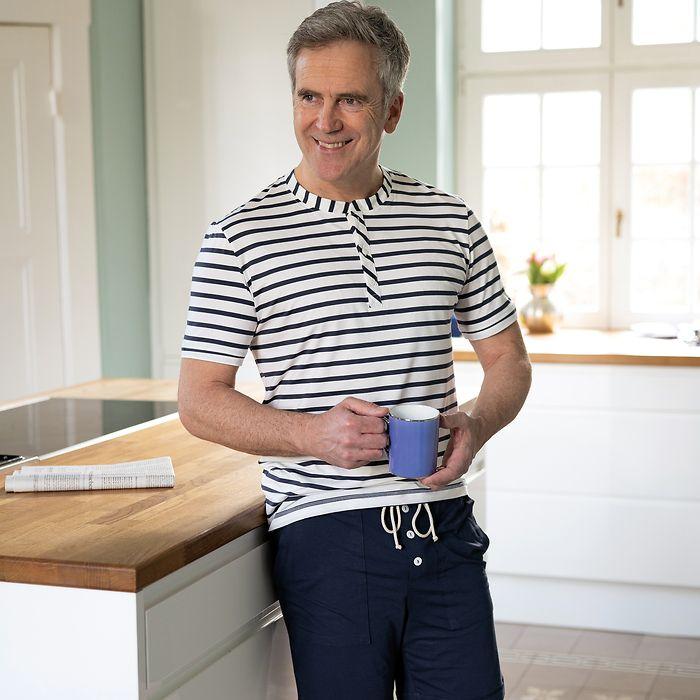 Sunday in Bed Gestreiftes Pyjamashirt John