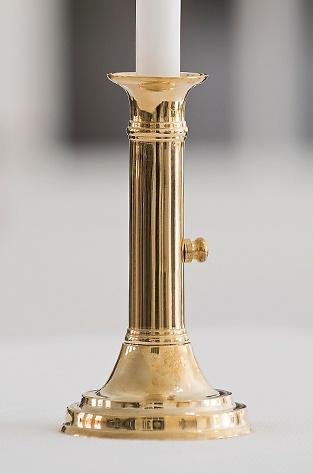 Schiebeleuchter 1830 aus Messing