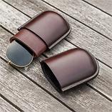 Brillenstecketui aus Leder