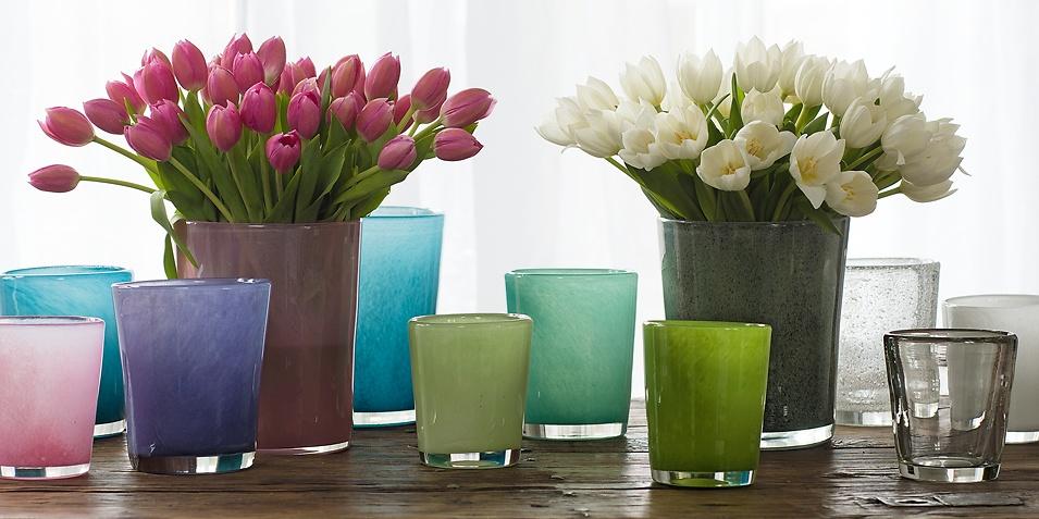 Mundgeblasene vasen von dutz in vielen schönen farben