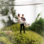 Mini-Dioramen: Hochzeitspaar