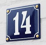 Hausnummer aus Emaille